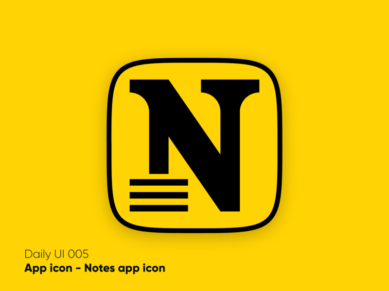 Notes app icon - Daily UI 005 visual design logo vector branding app graphicdesign graphicdesgn app icon