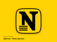 Notes app icon - Daily UI 005