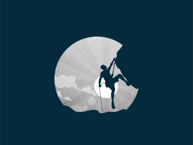 rock climbing rock climbing fish pencil bird illustration icon coffee film music vector sketch design logo