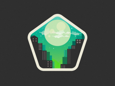 city moon ui branding illustration icon music vector sketch design logo