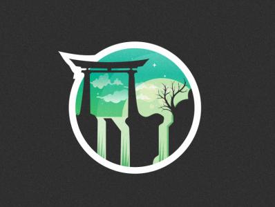 NIPON design vector bird illustration icon coffee film music vector sketch design logo