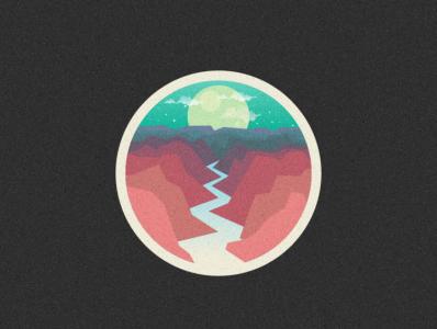 river logo illustration icon vector sketch design logo