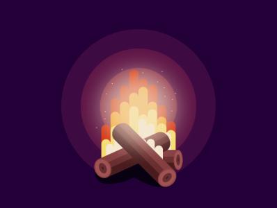 bonfire typography branding illustration icon vector sketch design logo fire bonfire