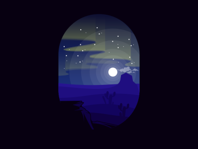 aurora illustration vector sketch design logo