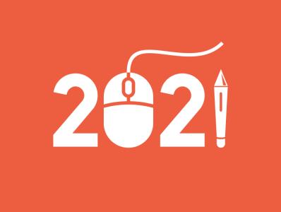 2021 logo vector new year 2021 coffee film music vector sketch design logo