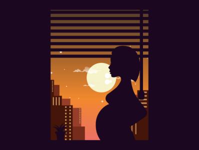 pregnant pregnant fish pencil bird illustration icon coffee film music vector sketch design logo