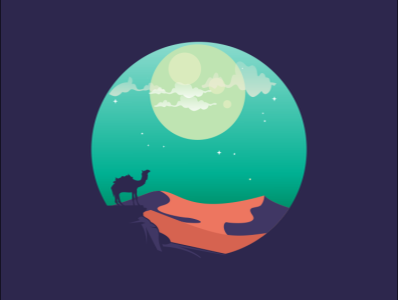 camel icon coffee film music vector sketch design logo