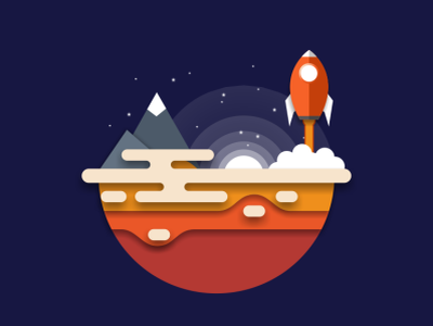rocket illustration icon music vector sketch design logo
