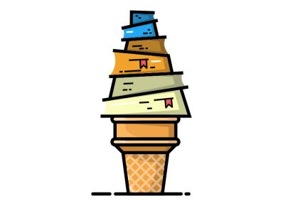 book ice illustration icon vector sketch design logo