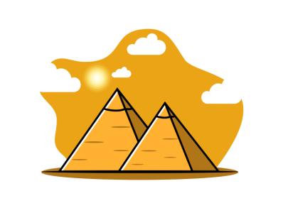 piramid logo illustration music vector sketch design illustration logo