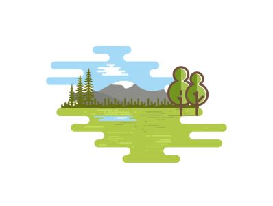 mount grenn logo illustration coffee film music vector sketch design logo