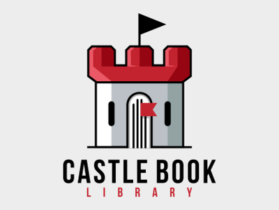 castle library bird illustration icon coffee film music vector sketch design logo