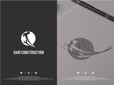 Chat Construction logo construction chat