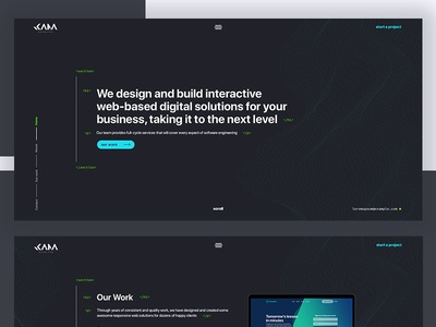 Kama Engine Web Design code portfolio development logo vector illustration adobe photoshop website web ux ui design