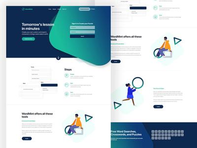 Wordmint development vector adobe photoshop website web ux ui design