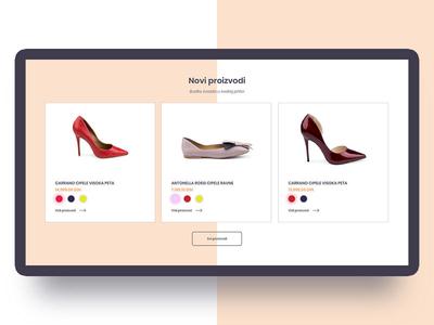Shoe Shop shop shoes flat clean website web ux ui design