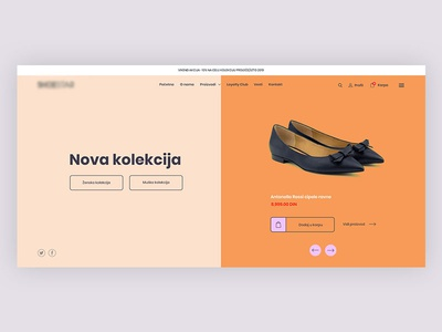 Shoe Shop - Hero section
