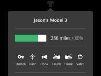 Tesla menu bar app