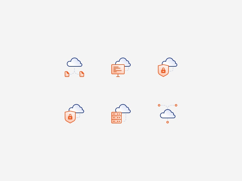 Cloud icons server secure private sync cloud icons