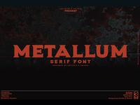 Metallum - Serif font Family
