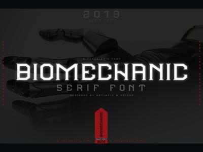 BIOMECHANIC Serif font