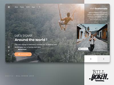 Travel UI HP ui freelance zokay design guatemala freedom world website travel interface designer ux challenge dayliui webdesign uidesign ux  ui