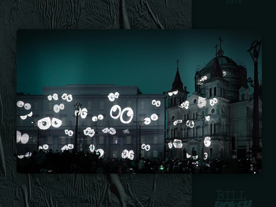 Video Mapping Festival - Lodz cartoon light poland festival architecture motion video mapping