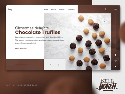 Chocolate Truffle slider truffle chocolate zokay landing interface home page design freelance website web ux home page webdesign ux  ui ux challenge ui uidesign interface designer design dayliui