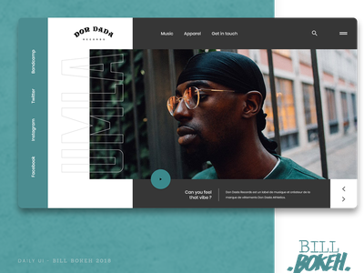 Don Dada Records HP umla don dada app zokay landing interface home page design freelance website web ux home page webdesign ux  ui ux challenge uidesign ui interface designer design dayliui