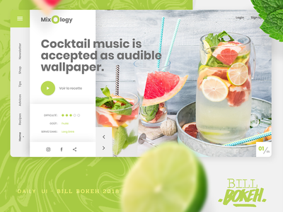 Cocktail Interface mixology fresh colors cocktail slider home page design zokay interface freelance website web ux home page webdesign ux  ui ux challenge uidesign ui interface designer design dayliui