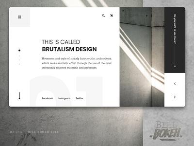 Brutalism HP brutalism slider landing home page design zokay interface freelance website web ux home page webdesign ux  ui ux challenge uidesign ui interface designer design dayliui