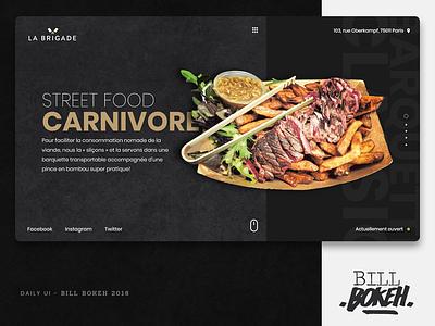 La Brigade HP foodtruck food slider landing home page design zokay interface freelance website web ux home page webdesign ux  ui ux challenge uidesign ui interface designer design dayliui