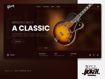 Gibson HP app slider landing home page design zokay interface freelance website web ux home page webdesign ux  ui ux challenge uidesign ui interface designer design dayliui