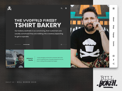 Johnny Cupcakes HP app slider landing home page design zokay interface freelance website web ux home page webdesign ux  ui ux challenge uidesign ui interface designer design dayliui