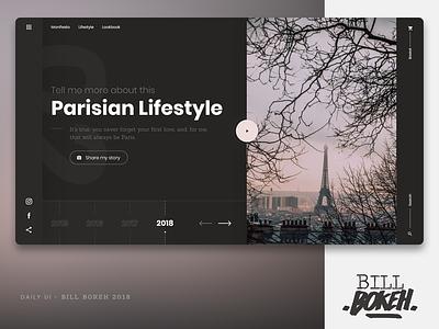 Parisian Lifestyle paris app slider landing home page design zokay interface freelance website web ux home page webdesign ux  ui ux challenge uidesign ui interface designer design dayliui