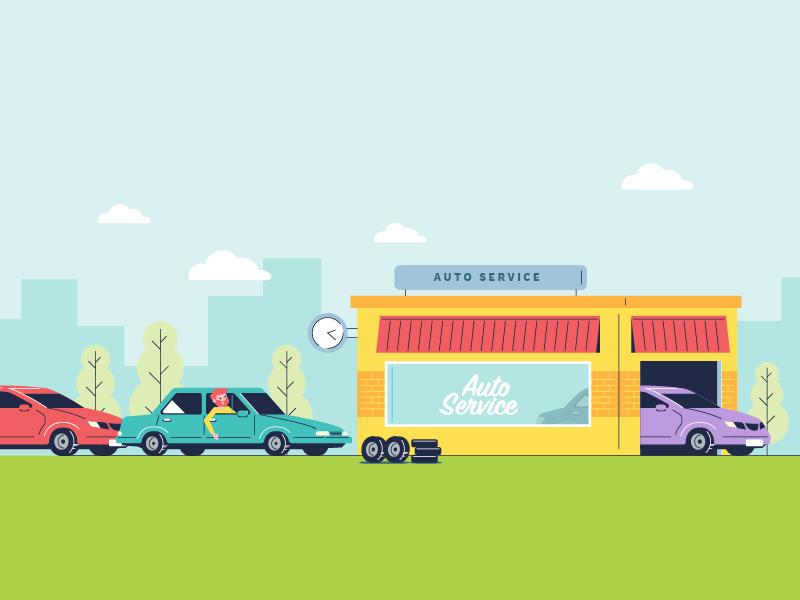 Auto Service time automobile car service auto
