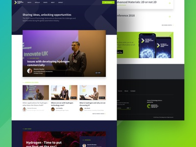 Future of Technology Series website homepage (2017)