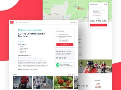 GoTri event booking (2016) website web design ui booking ui design user interface