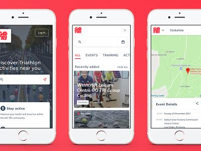 GoTri mobile view (2016) mobile website web design ui booking ui design user interface