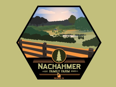 Nachahmer Farm - Badge Illustration graphic design illustrator icon art vector logo branding minimal illustration design