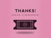Thanks Sarah