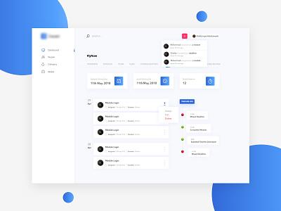 Dashboard Design - Product Management Software dashboard uidesign