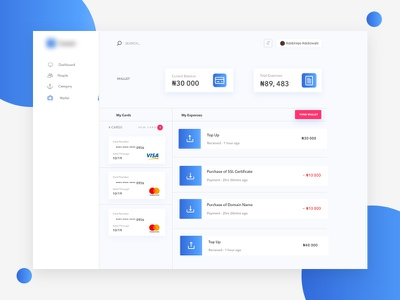 Wallet Design for a Dashboard