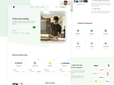 Job Listing Site dashboard design uxdesign logodesign uidesign