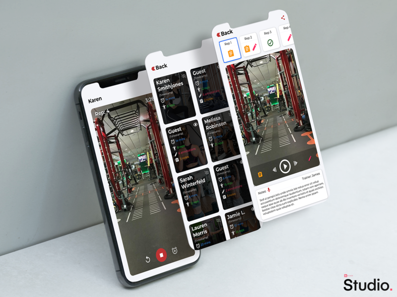 Fitness App invisionstudio mockup ux mobile ui design crossfit personal trainer app fitness