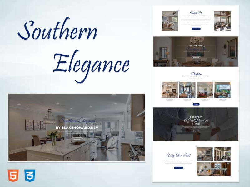 Southern Elegance - Real Estate Website