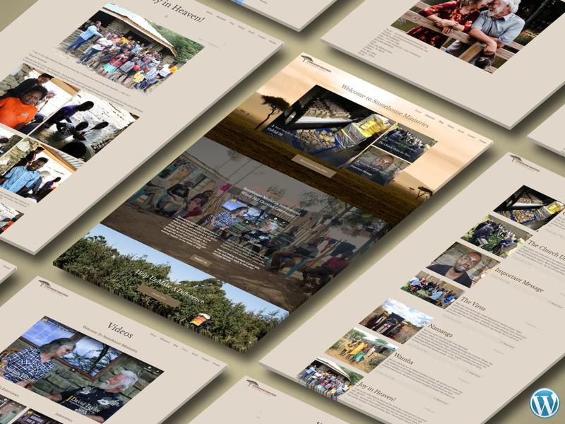 Stonehouse Ministries Wordpress Site wordpress branding website ui design