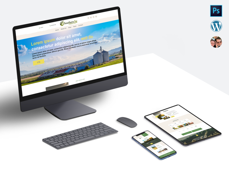 Rebrand & Website Redesign photoshop wordpress mockup web site webdeisgn web design web ui design