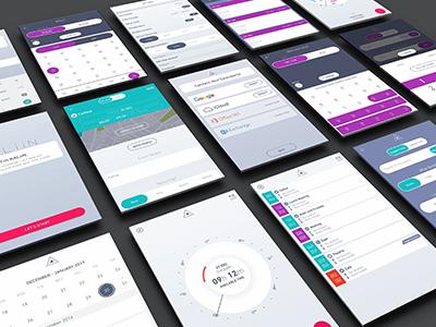 Kaliin Screen Layout mobile ai ux ui kaliin