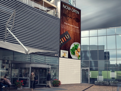The Wooden Spoon Restaurant Signage